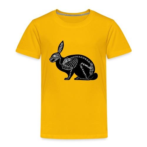 konijn skelet - Kinderen Premium T-shirt