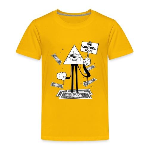 We Control You - Conspiration Design - T-shirt Premium Enfant