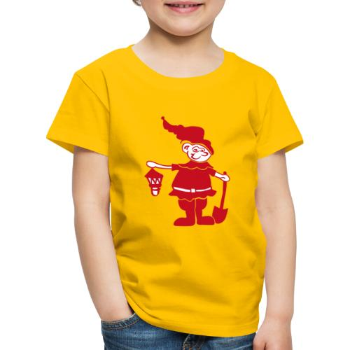 Auenzwerg Button - Kinder Premium T-Shirt
