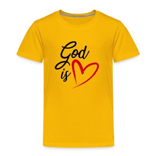God is love 2N - Maglietta Premium per bambini