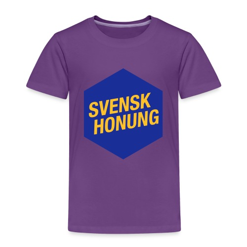 Svensk honung Hexagon Blå/Gul - Premium-T-shirt barn
