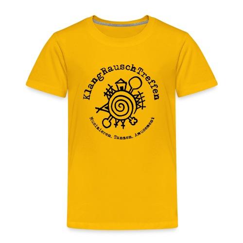 KlangRauschTreffen Logo mit Schrift rund - Kinder Premium T-Shirt