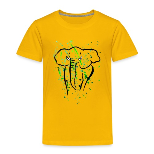 Afrikanischer Elefant - Kunst - Kinder Premium T-Shirt