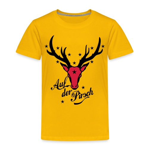 Hirsch auf der Pirsch - Kinder Premium T-Shirt