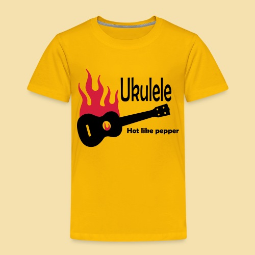 Ukulele Burning like pepper - Kinder Premium T-Shirt