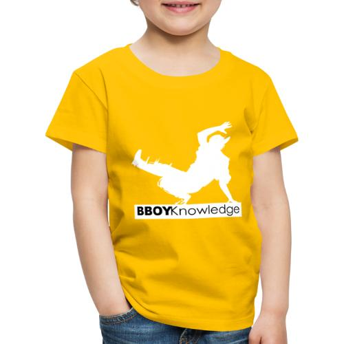 bboy knowledge Blanc & Noir - T-shirt Premium Enfant
