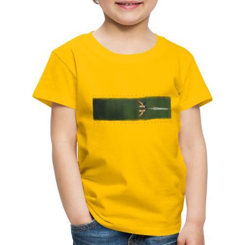 Swallow over the lake. Aerobatic reflection mirror - Kids' Premium T-Shirt