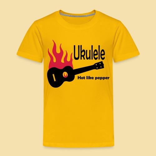 Ukulele Burning like pepper - Kinder Premium T-Shirt