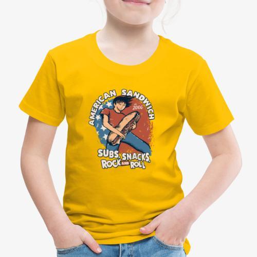 American Sandwich Rocker auf Farbe - Kinder Premium T-Shirt