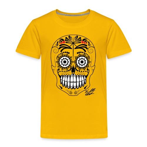 black skull with sig01 - Kids' Premium T-Shirt