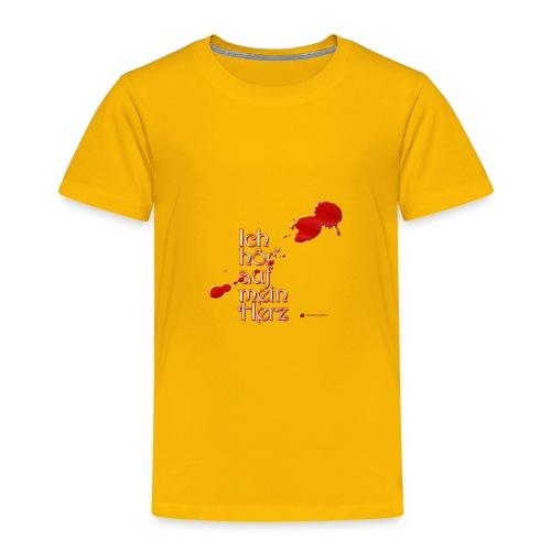 Ich hör' auf mein Herz - in rot - Kinder Premium T-Shirt
