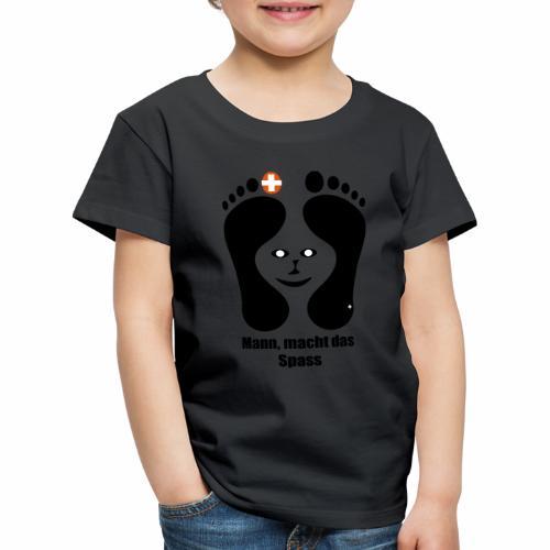 Barfuss-Logo das macht Spass mit Gesicht - Kinder Premium T-Shirt