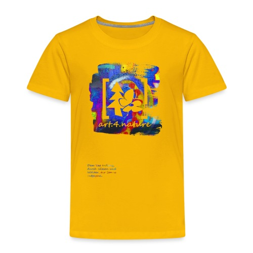 #art.4.nature / blau - Kinder Premium T-Shirt
