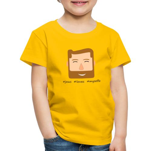 jesus loves myselfie - Kinder Premium T-Shirt