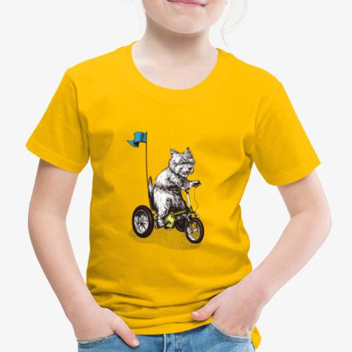 West Highland Terrier Tricycle - Kids' Premium T-Shirt