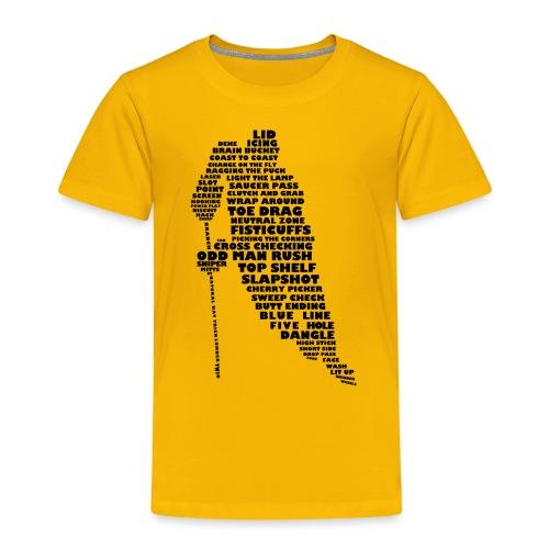 Language of Hockey (Black) - Kids' Premium T-Shirt