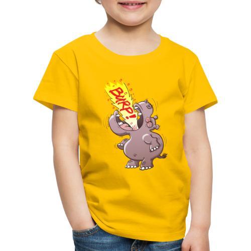 Hippopotamus Burping Loudly - Kids' Premium T-Shirt