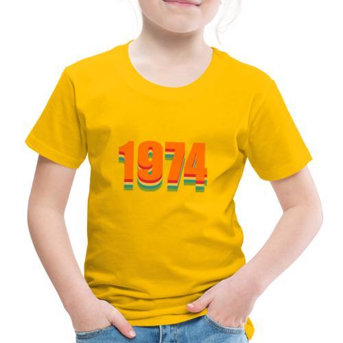 1974 rainbow - Kinder Premium T-Shirt
