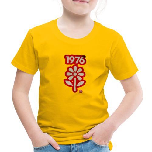 1976 withe flower vtgd - Kinder Premium T-Shirt