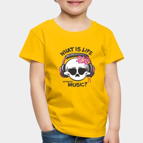 la musique est le crâne de la vie - T-shirt Premium Enfant