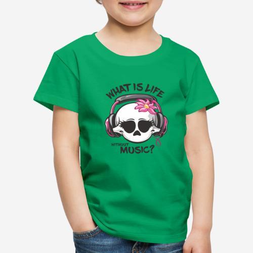 Musik ist Lebensschädel - Kinder Premium T-Shirt