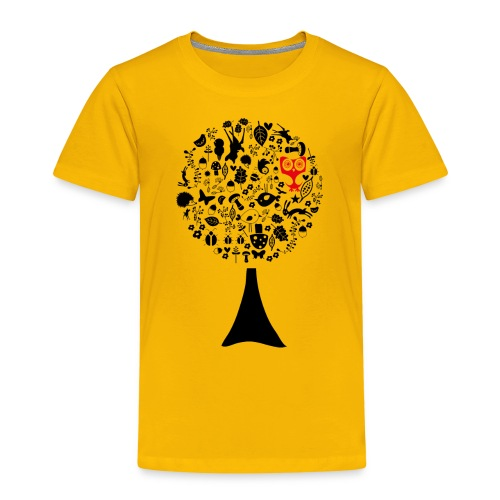 baum_eule rot - Kinder Premium T-Shirt