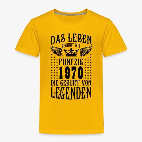 Das Leben beginnt mit 50 Geburt von Legenden 1970 - Kinder Premium T-Shirt