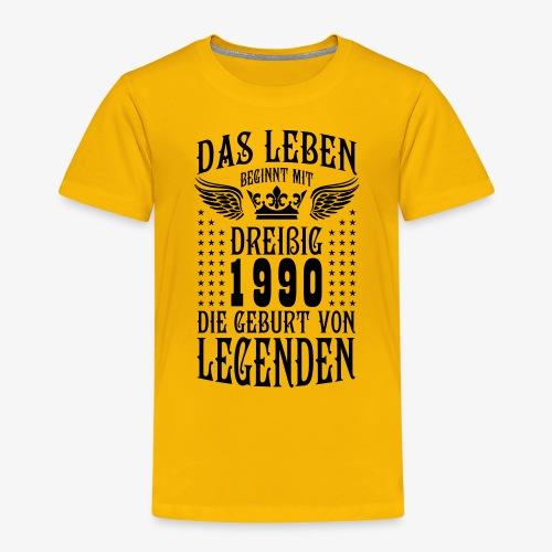 Das Leben beginnt mit 30 Geburt von Legenden 1990 - Kinder Premium T-Shirt