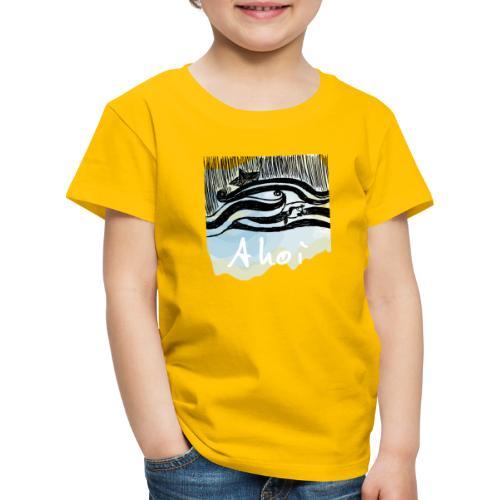 WELLEN SCHIFF FISCH - Kinder Premium T-Shirt