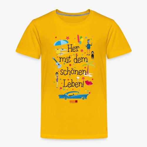 55 Her mit dem schönen Leben Margarita-Art - Kinder Premium T-Shirt