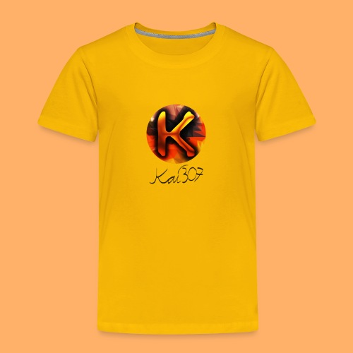 Kai_307 - Profilbild + Unterschrift Schwarz - Kinder Premium T-Shirt