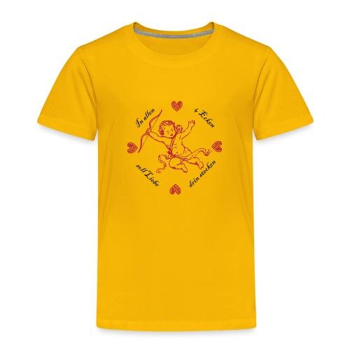 Liebe in allen 4 Ecken von Anna & Fritz - Kinder Premium T-Shirt