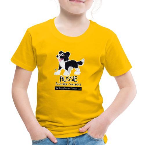 Aussie CartoonClub - Black - Kids' Premium T-Shirt