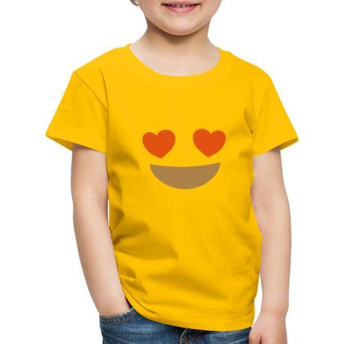 Emoji smiling face with heart eyes - Kids' Premium T-Shirt