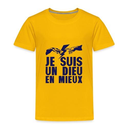 je suis un dieu en_mieux_main_eclair - T-shirt Premium Enfant