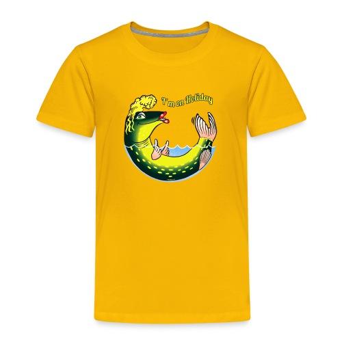 LADY FISH HOLIDAY - Haukileidi lomailee tekstiilit - Lasten premium t-paita