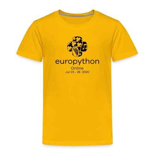 EuroPython 2020 - Vertical Black Logo - Kids' Premium T-Shirt