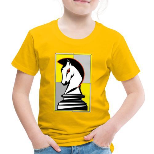 cavallo Scacchi Vers 2 - Maglietta Premium per bambini