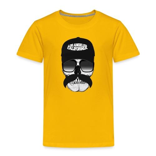 Skull Mustache California - Kids' Premium T-Shirt