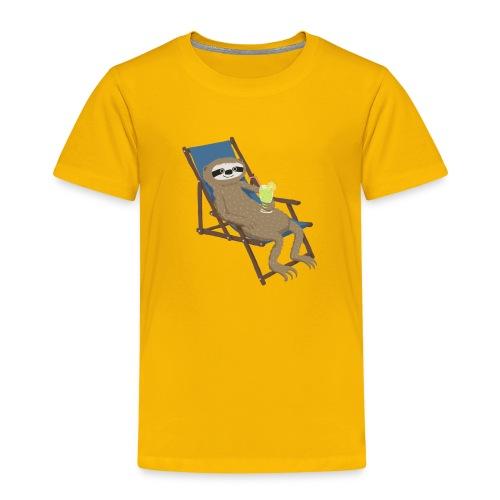 Faultier_Liegestuhl - Kinder Premium T-Shirt