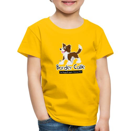 CartoonClub BorderCollie Brown - Kids' Premium T-Shirt