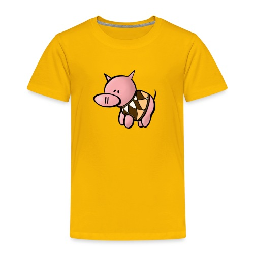 Grisen i pullover - Premium-T-shirt barn