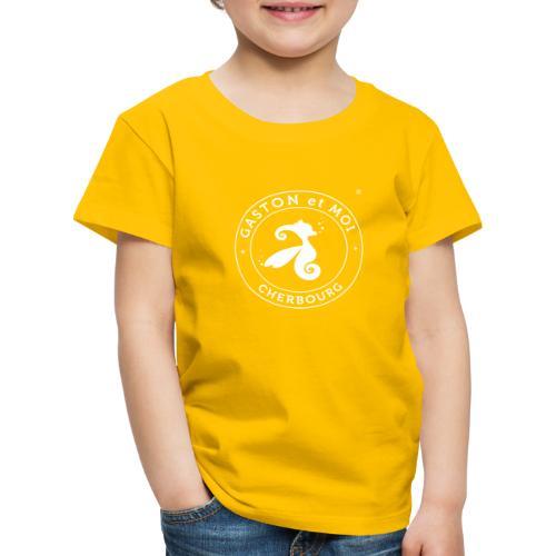 Gaston et Moi Cherbourg Blanc - T-shirt Premium Enfant