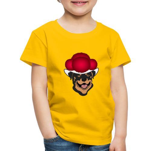 Rottweiler mit rotem Bollenhut - Kinder Premium T-Shirt