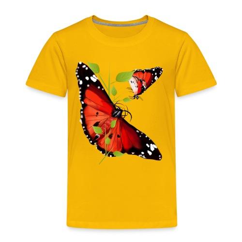 TWO BRIGHT ORANGE BUTTERF - Kids' Premium T-Shirt