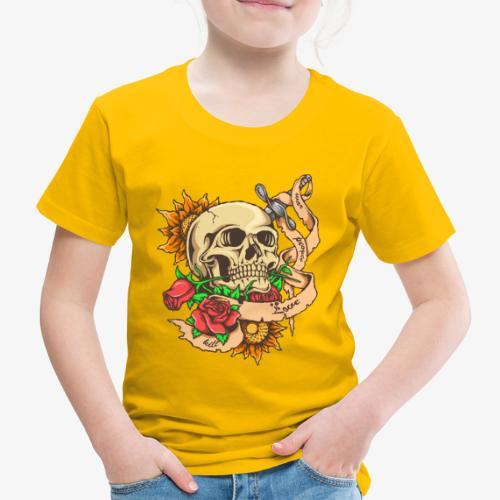 Schädel-Tattoo - Kinder Premium T-Shirt