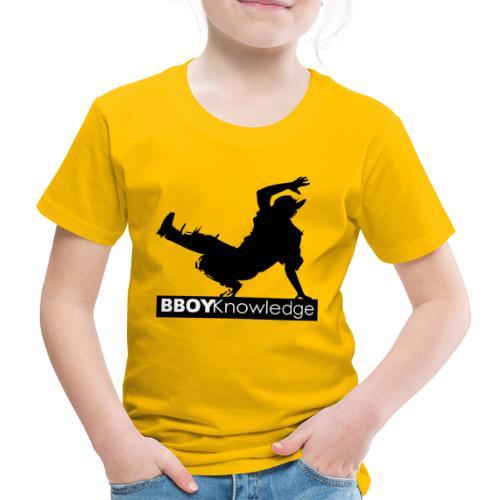 Bboy knowledge noir & blanc - T-shirt Premium Enfant