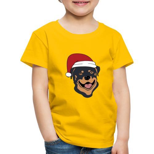 Weihnachtsmann Rottweiler - Kinder Premium T-Shirt