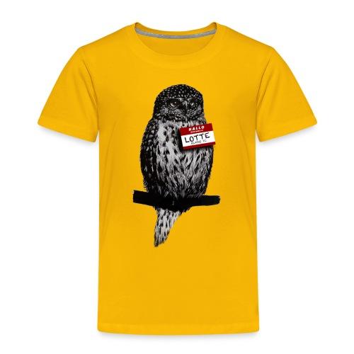 eule vintage lotte2 png - Kinder Premium T-Shirt
