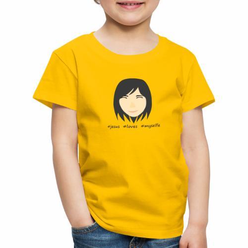 jesus loves myselfie - Kinder Premium T-Shirt